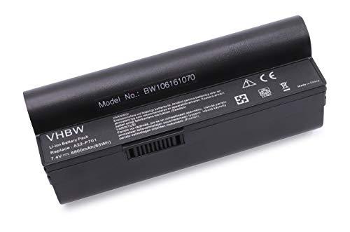 vhbw Batterie Compatible avec ASUS Eee PC 12G, 20G, 2G, 4G, 700, 701, 8G, 900 Laptop (8800mAh, 7,4V, Li-ION)