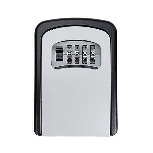 Caja Fuerte para llaves Tarjeta de llave de 4 dígitos Caja de clavija Caja de claves Caja de la contraseña Caja de llave de cifrado decorada Más Confiable ( Color : Blake Gray , Size : 9x6.5x3cm )