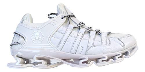 PHILIPP PLEIN , Herren Sneaker Weiß Bianco, Weiß - Bianco - Größe: 41 EU