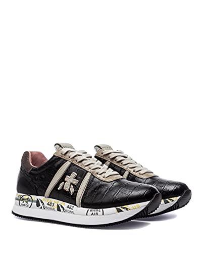 PREMIATA Scarpe Sneakers Donna Conny 5327 Pelle Nera