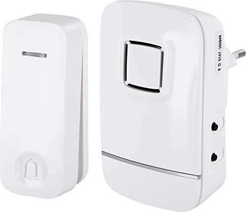 Draadloze deurbel IP44 - geluid + licht - batterijen - 150 m bereik - 32 melodieën - spatwaterdichte belknop IP44