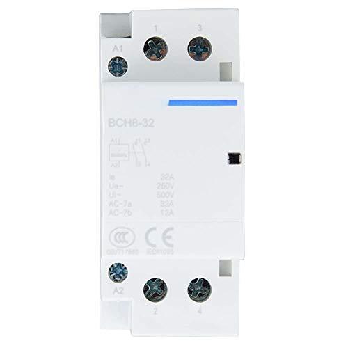 AC Contactor 2P 2NO riel DIN del hogar de bajo consumo de...
