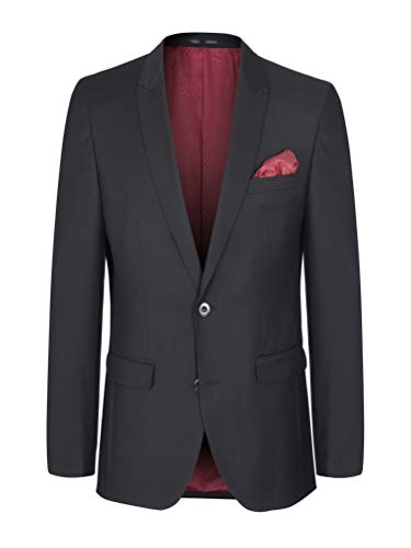Michaelax-Fashion-Trade - Blazer - Uni - Homme - Noir - 42