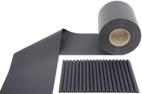 Sichtschutzstreifen Zaunfolie für Stabmattenzaun Anthrazit MATT 650 g/qm 35m x 19 cm inkl. Befestigungsclips RAL 7016 Sichtschutz Streifen