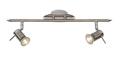 Lucide BIKKO-LED - Spot Plafond - LED Dim. - GU10 - 2x5W 2700K - IP44 - Chrome Dépoli