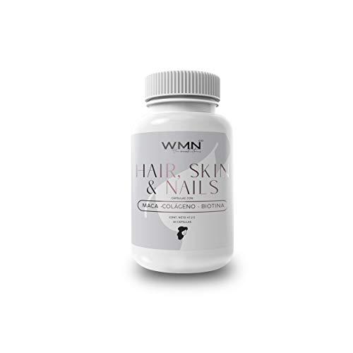 Multivitamínico Hair, Skin & Nails | WMN Co | Nueva fórmula con Maca, Colágeno, Ácido Hialurónico, Biotina y más vitaminas | Formulado para mejorar la salud de tu piel y potencializar el crecimiento de cabello y uñas