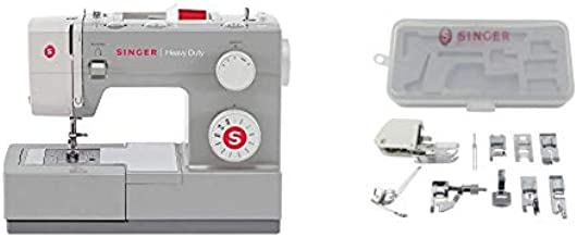 SINGER | Heavy Duty 4411 Sewing Machine with 11 Built-In Stitches, Accessory Kit, Includes 9 Presser Feet, Twin Needles, & Case - Sewing Made Easy