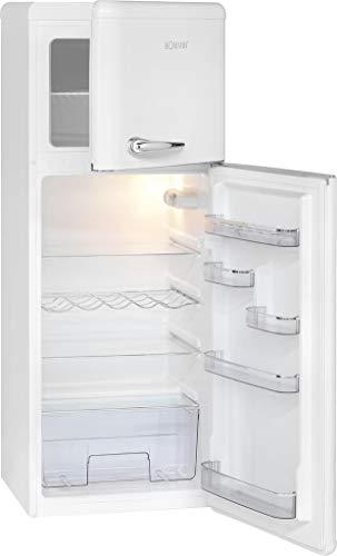 Bomann DTR 353 Doppeltür-Kühlschrank Retro-Style, EEK A++,208 L, Kühlen 157 L, Gefrieren 51 L, Höhe 143,5 cm, Weiß