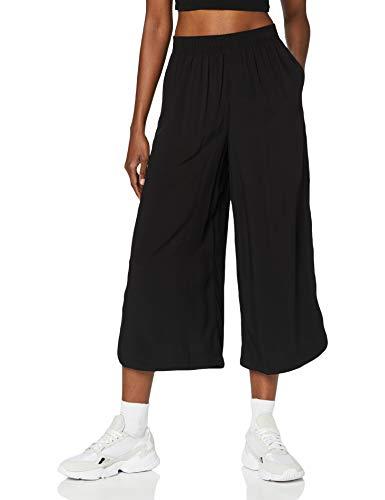 Urban Classics Ladies Wide Viscose Culotte Pantaln de Vestir, Negro, S para...