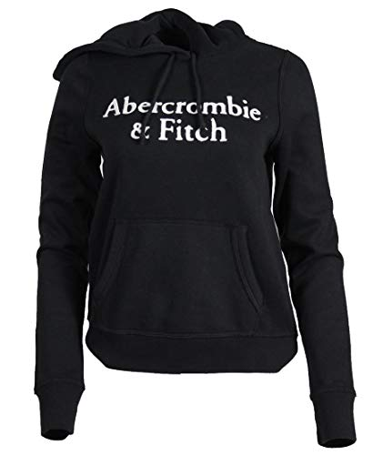 Abercrombie & Fitch Sudadera con capucha para mujer. Negro S