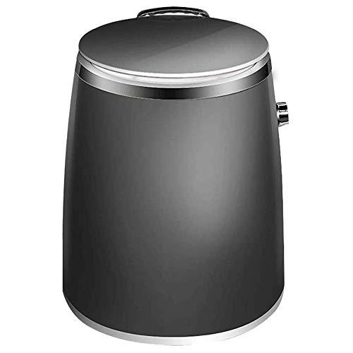 WCJ Mini Lavadora, 1Kg Capacidad de Lavado, 260 vatios, de Uso Individual y el Estudiante Familias, de bajo Ruido (Negro, tamaño del Producto: 385x385x460mm)