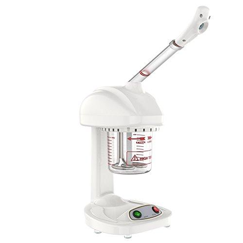 Vapeur facial ionique professionnel, tête de pulvérisation rotative à 360 ° pour les cheveux et le visage, machine de pulvérisation ionique avancée pour le sauna de visage SPA hydratant