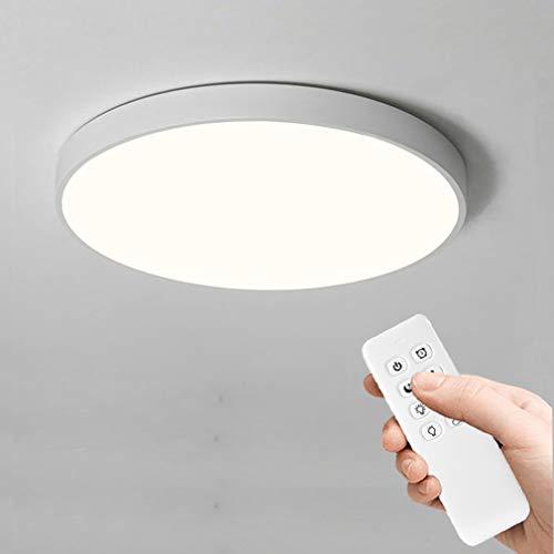 Anten 24W Plafón LED de Techo Regulable con Mando a Distáncia Moderna Lámpara Techo Led Redondo Ultra Delgado para Salón, Baño, Dormitorio