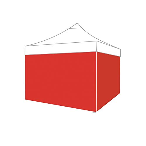 ACTIEXPRESS Lot de bâche d'entourage 3x3m pour Tonnelle Pliable, Tente Pliante, Barnum marché, en Polyester-PVC, 100% étanche (Polyester-PVC 220gr/m², Rouge)