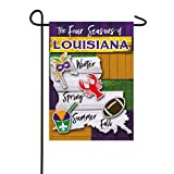 Four Seasons of Louisiana Garden Suede Flag - 13 x 1 x 18 Inches