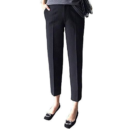 Frauen Anzughose Knöchellange Hose Hohe Taille Schlank Office Lady Plus Size Solid Schwarz Grau Elegant Lässig