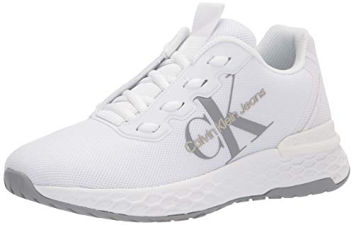 Calvin Klein Women's ABEL Sneaker, White, 7