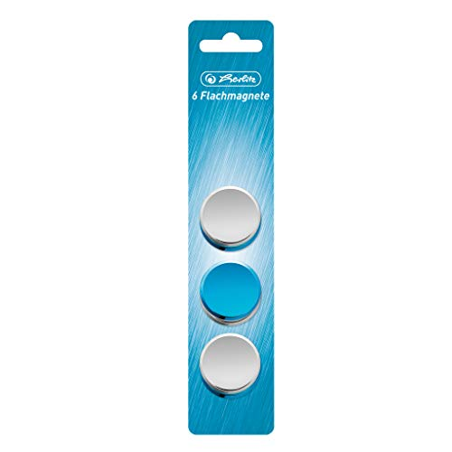 Herlitz 50027484 platte magneten Frozen Glam, rond, 6 stuks