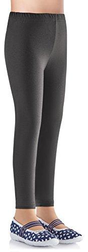 Ladeheid Mädchen Leggings aus Baumwolle LAMA03 (Anthrazit15, 116-122)