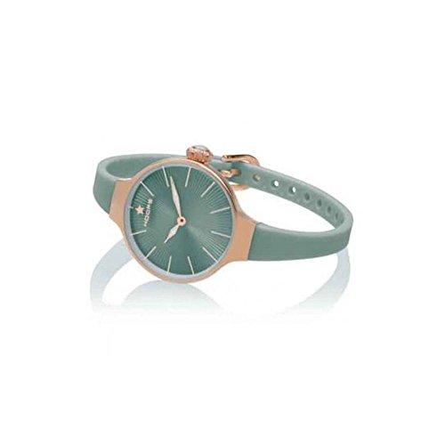 Orologio Hoops Nouveau Cherie Rose' 2583L-RG11 Al quarzo (batteria) Acciaio Quandrante Verde Cinturino Gomma