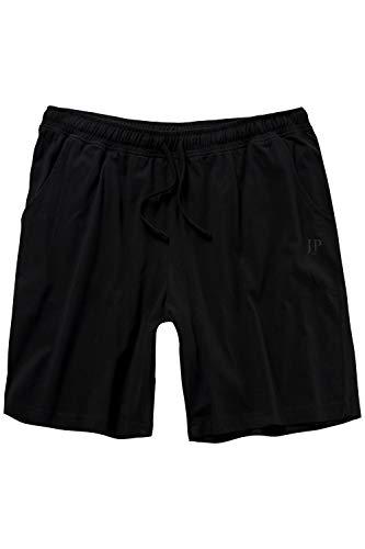 JP 1880 Herren große Größen bis 8XL, Schlafanzug-Hose, Shorts, Kurze Pyjama-Hose, Jogging-Hose aus 100% Baumwolle, Sweatpants schwarz 4XL 708405 10-4XL