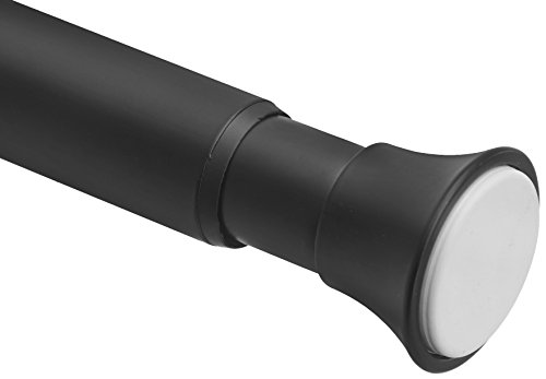 AmazonBasics Teleskop-Duschvorhangstange zum Einklemmen, 91-137 cm, Schwarz