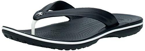 Crocs Unisex-Erwachsene Zehentrenner Zehentrenner Crocband Flip, Schwarz (Black), 39-40 (Herstellergröße: M7/W9)