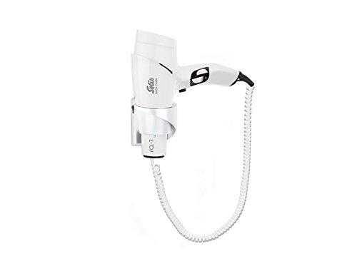 Solis Design Haarföhn mit Wandhalterung, 3 Temperatur- und Gebläsestufen, Abkühl-Taste, DC-Motor, 1700 Watt, Ionen-Technologie, IQ-7 (Typ 435), Weiß