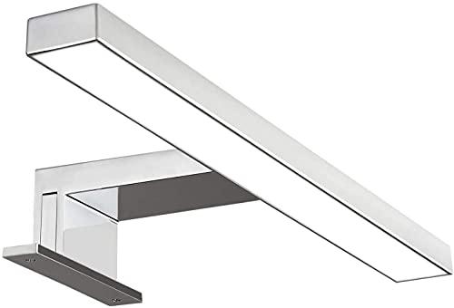 Solupa lampada da specchio LED per bagno FORTUNA – 30CM, 4,8W, 300LM, 220V, 6000K, ABS, IP44 Classe II, non dimmerabile, Installazione specchio e telaio, luce fredda, 300 mm
