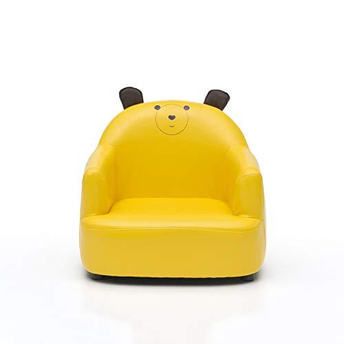 UNCTAD sofá de bebé Asiento Hecho de PU/Tela - Esquinas Redondeadas - Fácil de Limpiar bebé Sofá - para Jardines Infancia, familias, instituciones de formación, Parques Infantiles, etcyellow