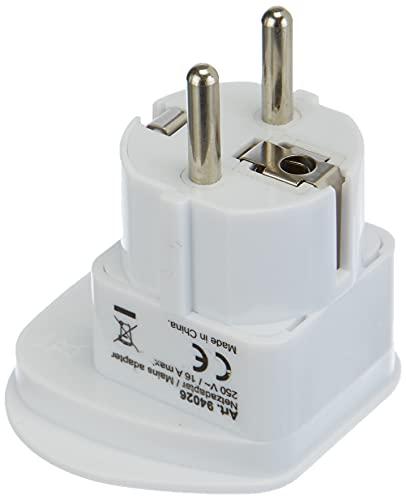 Goobay 94026 Universal Reiseadapter, Stromadapter, Schutzkontakt CEE 7/7, Schuko-Standard, Weiß