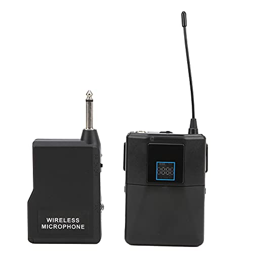 Micrófono Lavalier, UHF Lav Mic 50 Pies De Rango De Trabajo Con Transmisor/Receptor Para Altavoz Para Grabación De Video Para Entrevistas Para Cursos Para Maestros