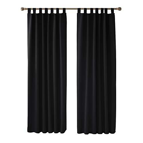 Deconovo Cortinas Dormitorio Moderno Blackout Curtain Suave para Ventanas de Habitación Juvenil con...