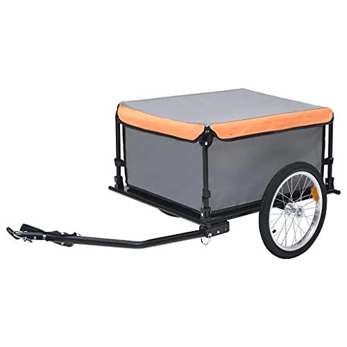 vidaXL Remolque de Carga para Bicicletas Carrito para Equipaje Carro de...