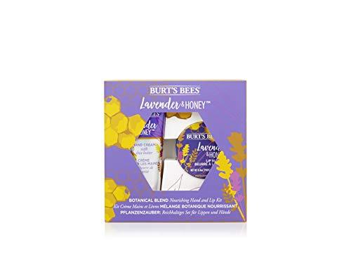 Burt's Bees Pflanzenzauber Pflegendes Handcreme Und Lippenpflege Set, Lavende & Honig, 71 G
