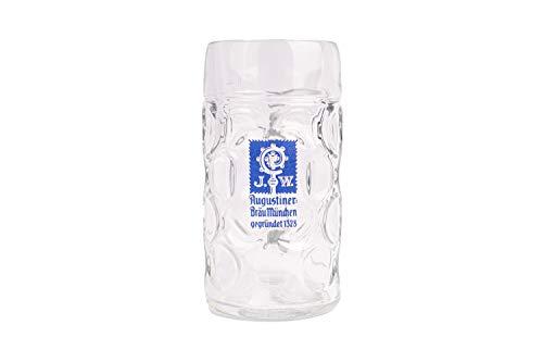 Augustiner Bräu München Maßkrug 1 Liter geeicht