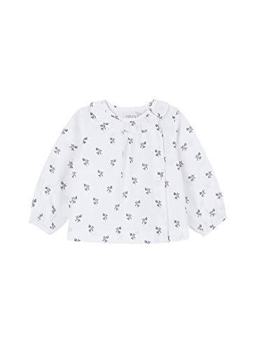 Gocco Camisa Estampada Flores Blusa, Blanco (Blanco WA), 92 (Tamaño del Fabricante:18/24) para Bebés