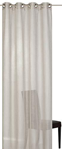 Barbara Becker Fertigdekoration, Polyester, Beige, 255x140cm