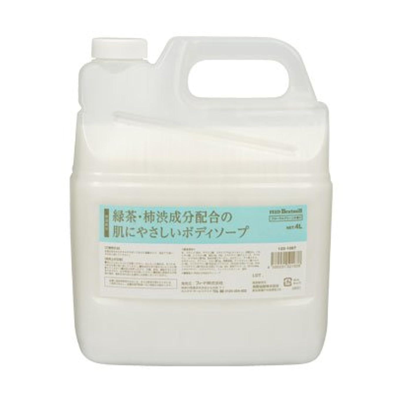 化学投獄欺【業務用】 FEED(フィード) 緑茶?柿渋成分配合の肌にやさしいボディソープ/4L 石けん 入数 1本