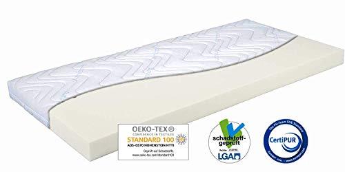 GUT GEBETTET Topper 200x70x9cm V-Power® Sensitiv Visco Matratzenauflage, Amicor® Doppeltuchbezug, anschmiegsame Auflage für optimales Schlaferlebnis Allergikergeeignet, Oeko-Tex 100 zertifiziert