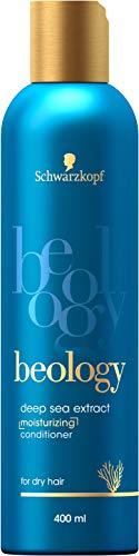 Schwarzkopf beology Feuchtigkeits-Spülung, für trockenes Haar, mit Tiefsee-Extrakt, 3er Pack (3 x 400 ml)