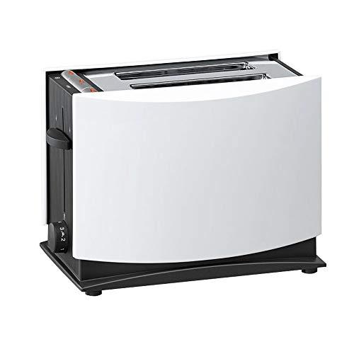Tostadora 750W, 2 Rebanadas, con 2 Ranuras para Tostadas De 7 Niveles, Funciones De Descongelación Y Precalentamiento, Blanco