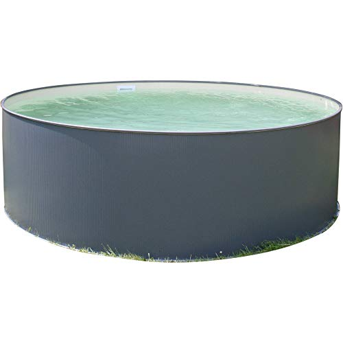 Planet Pool Rundbecken-Set Anthrazit 450x90cm (SW:0,3 IH: 0,2 Sand) Overlap 6-teilig