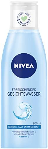 NIVEA Erfrischendes Gesichtswasser im 1er Pack (1 x 200 ml), klärendes Reinigungswasser mit Vitamin E, feuchtigkeitsspendende Gesichtsreinigung für normale und Mischhaut