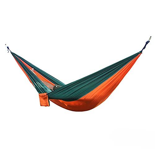 RWEAONT Hamaca Doble al Aire Libre Paño para paracaídas portátil de 2 Personas Redere jardín Silla Colgante de Silla de Viaje para Dormir (Color : Light Gray)