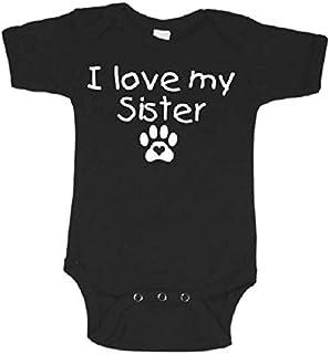 f3f3e76f0 My sister is a dog baby onesie my big brother pet one piece i love my