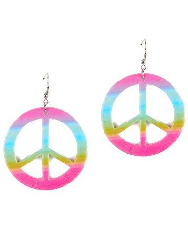 Vegaoo - Orecchini Peace And Love Colorati Adulto - Taglia UnicaOrecchini Peace And Love Colorati Adulto Taglia Unica