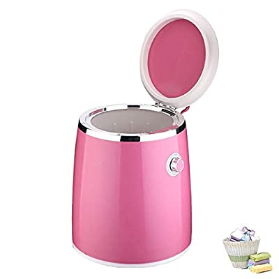 CLDGF Portable Washing Machine Spin Dryer Small Semiautomatic Counter Top Dryer 220V Elution Dual Prevent Bacterial Infections Applicable To Dorms Travel (Pink)