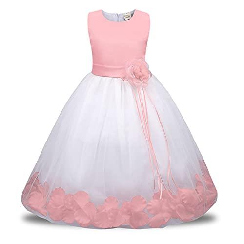 fhdjcn Blumenmädchenkleid für Festzug Geburtstag Hochzeit Brautjungfernkleid Abendkleider