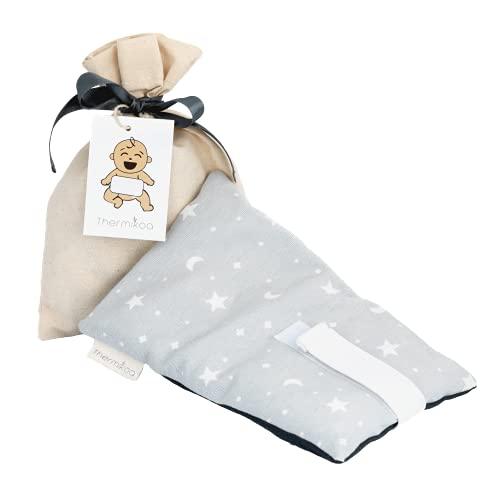 Cinturón Anticólicos Bebé Ajustable - Fajita de Saco Térmico de Semillas Para Aliviar el Dolor de Cólicos. 19x12 cm - Saco Cinturón Cólicos Bebé con Funda Lavable (Thermikoa)